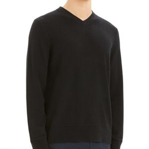 THEORY Black Wool V Neck Sweater Size M